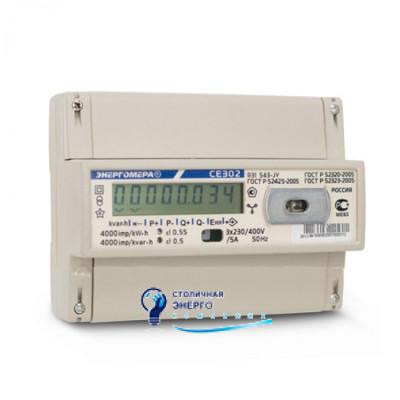 Трехфазный однотарифный электросчетчик CE302-R31-543J, Энергомера