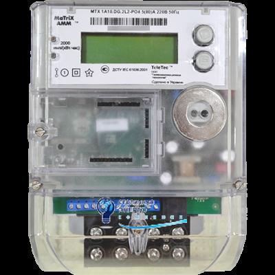 Электросчетчик однофазный MTX1A10.DH.2L2-ОG4 (GSM+реле+датчик магн.поля) Teletec