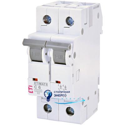 Автоматический выключатель ETIMAT 6 2p С 25А