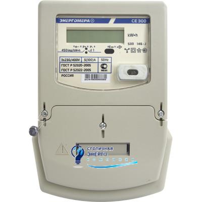 Трехфазный однотарифный электросчетчик СЕ300-S33-146J, Энергомера