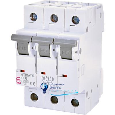 Автоматический выключатель ETIMAT 6 3p С 16А