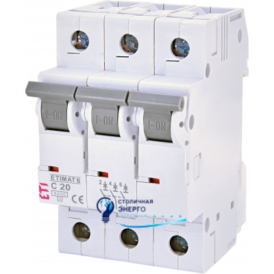 Автоматический выключатель ETIMAT 6 3p С 40А