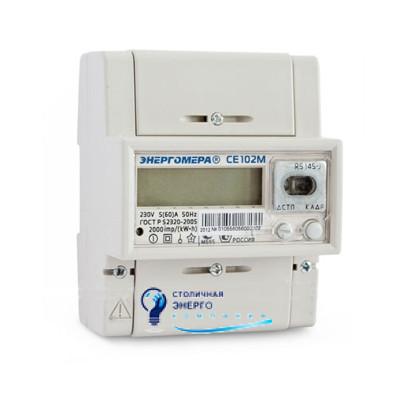 Однофазный многотарифный электросчетчик CE-102M-R5-145A, Энергомера