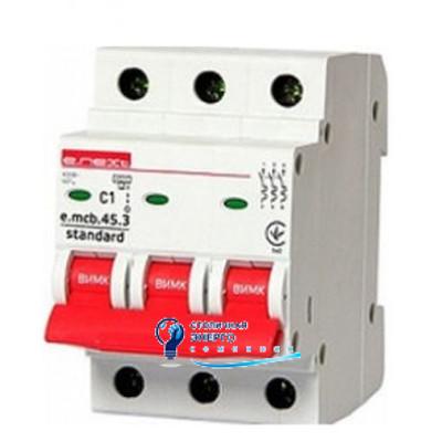 Автоматический выключатель 3р, 1А, e.mcb.stand.45.3.C1, E.NEXT