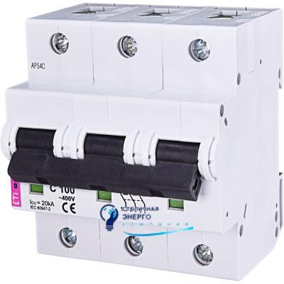 Автоматический выключатель ETIMAT 10 3p С 100А