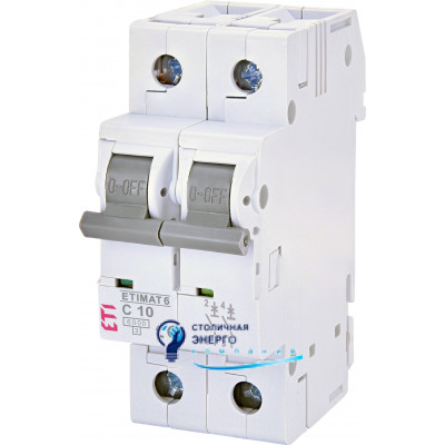 Автоматический выключатель ETIMAT 6 2p С 20А