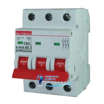 Автоматический выключатель 3р, 40А, e.mcb.pro.60.3.С 40 new, E.NEXT