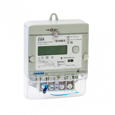 Электросчетчик однофазный MTX1A10.DF.2L0-PO4 (PLC+реле+датчик магн.поля) Teletec